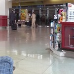 This is the bomb squad at Dammam Airport checking out a piece of luggage.
