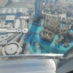 Looking down from the 124th floor of the Burj Khalifa