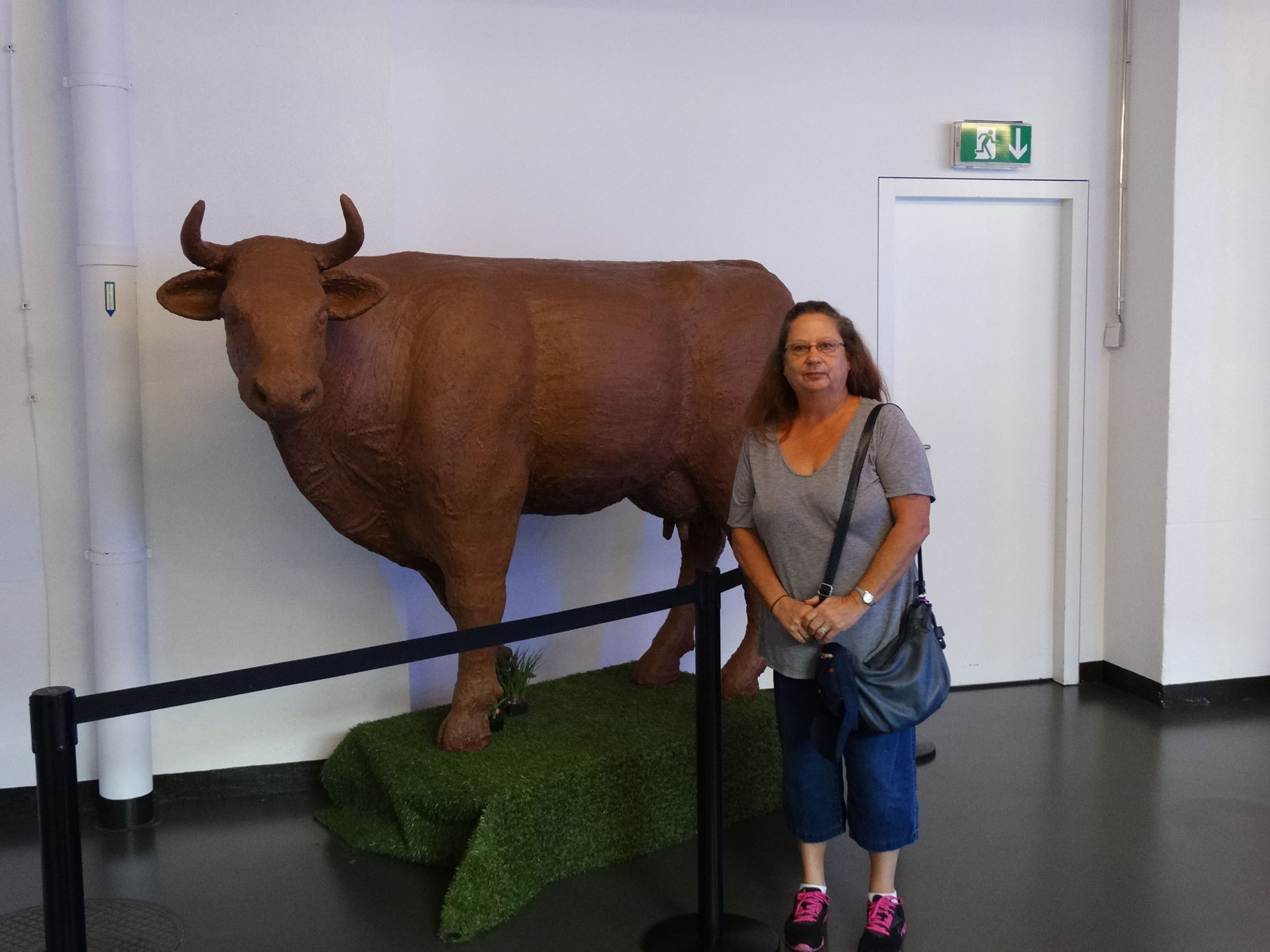 me and a chocolate cow.